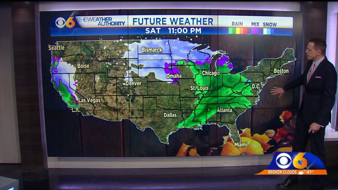 🦃Thanksgiving Week Travel Weather: A look at local, regional and nationalforecast