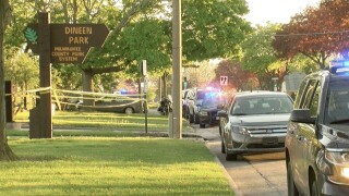 Police tape surrounds Dineen Park