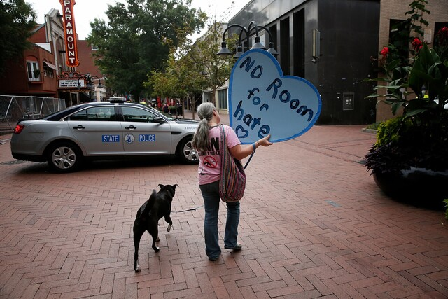 PHOTOS: Protesters gather on one year anniversary of deadly Charlottesville rally