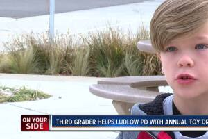 Third-grader helps Ludlow PD with annual toy drive