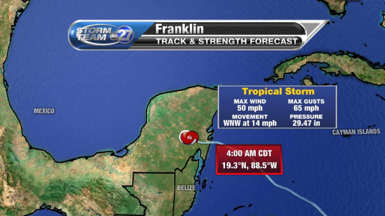 Tropical Storm Franklin 5am Advisory (08/08/2017)