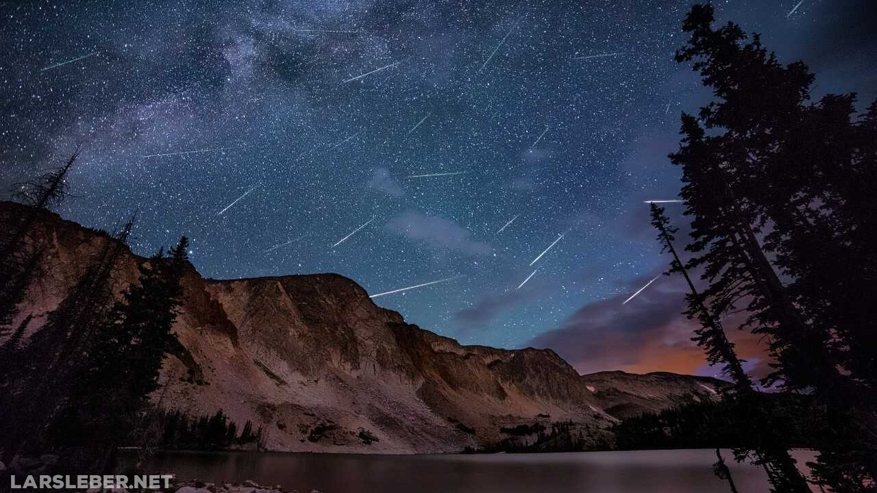 Perseid Meteor Shower at Lake Marie Wyoming