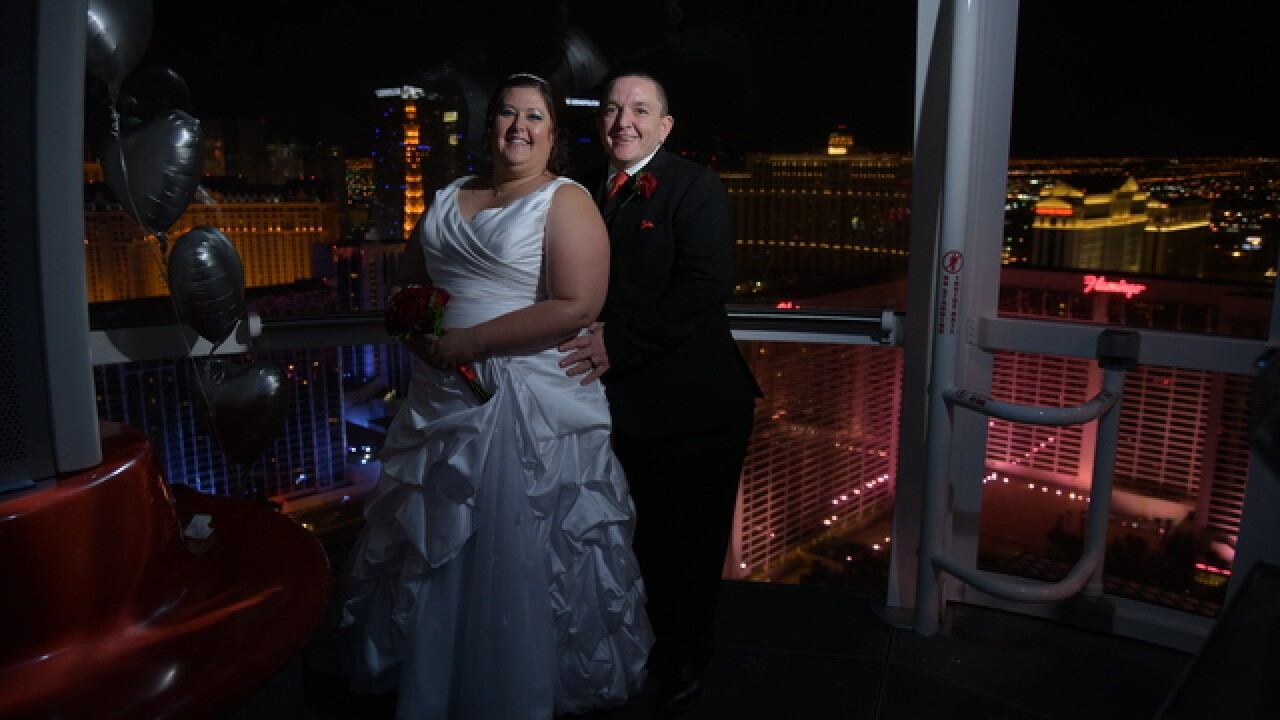 Lucky couple gets married atop High Roller