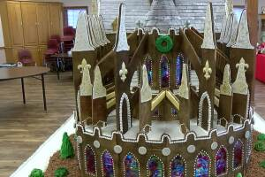 Weston church makes giant gingerbread replica of Notre Dame