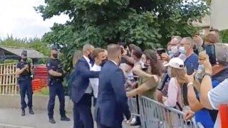 France Macron Slapped