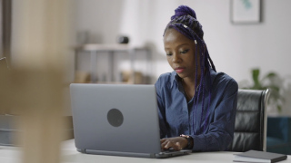 work from home computer woman office employee hiring apply