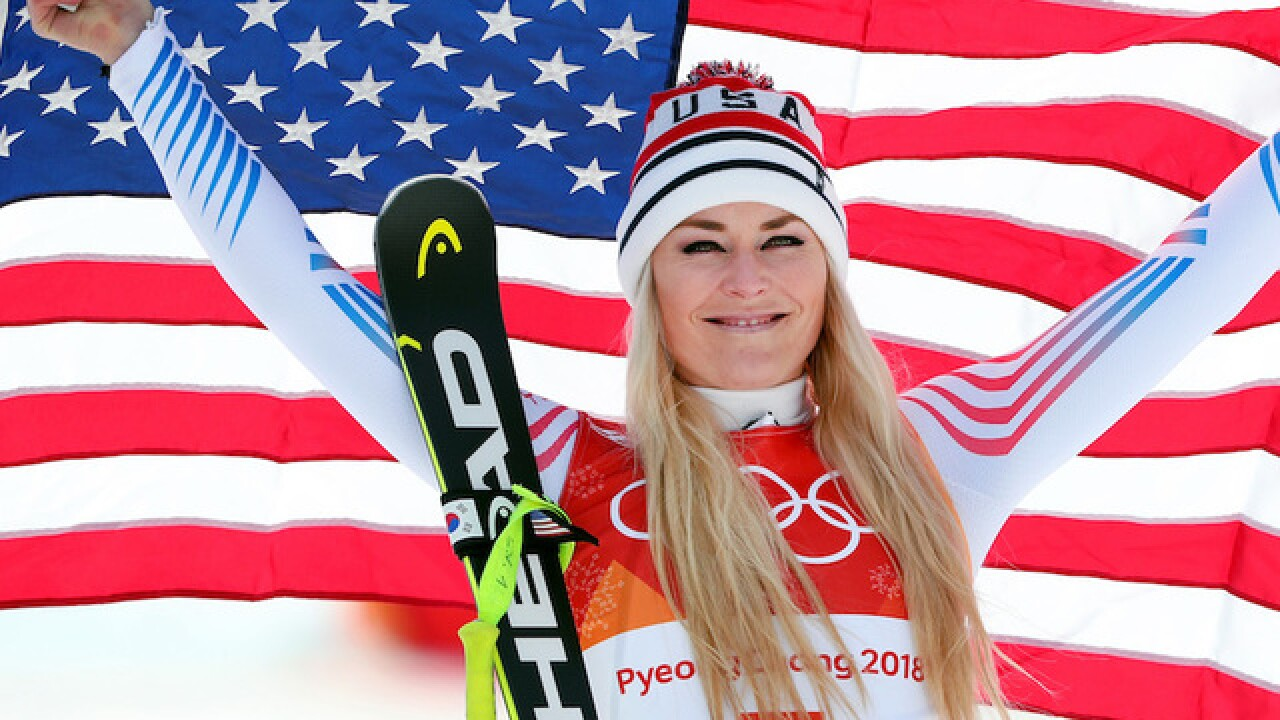 Lindsey Vonn takes bronze in Olympic downhill behind Italy's Sofia Goggia