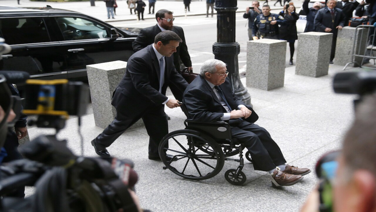 Dennis Hastert awaits sentence in hush-money cas