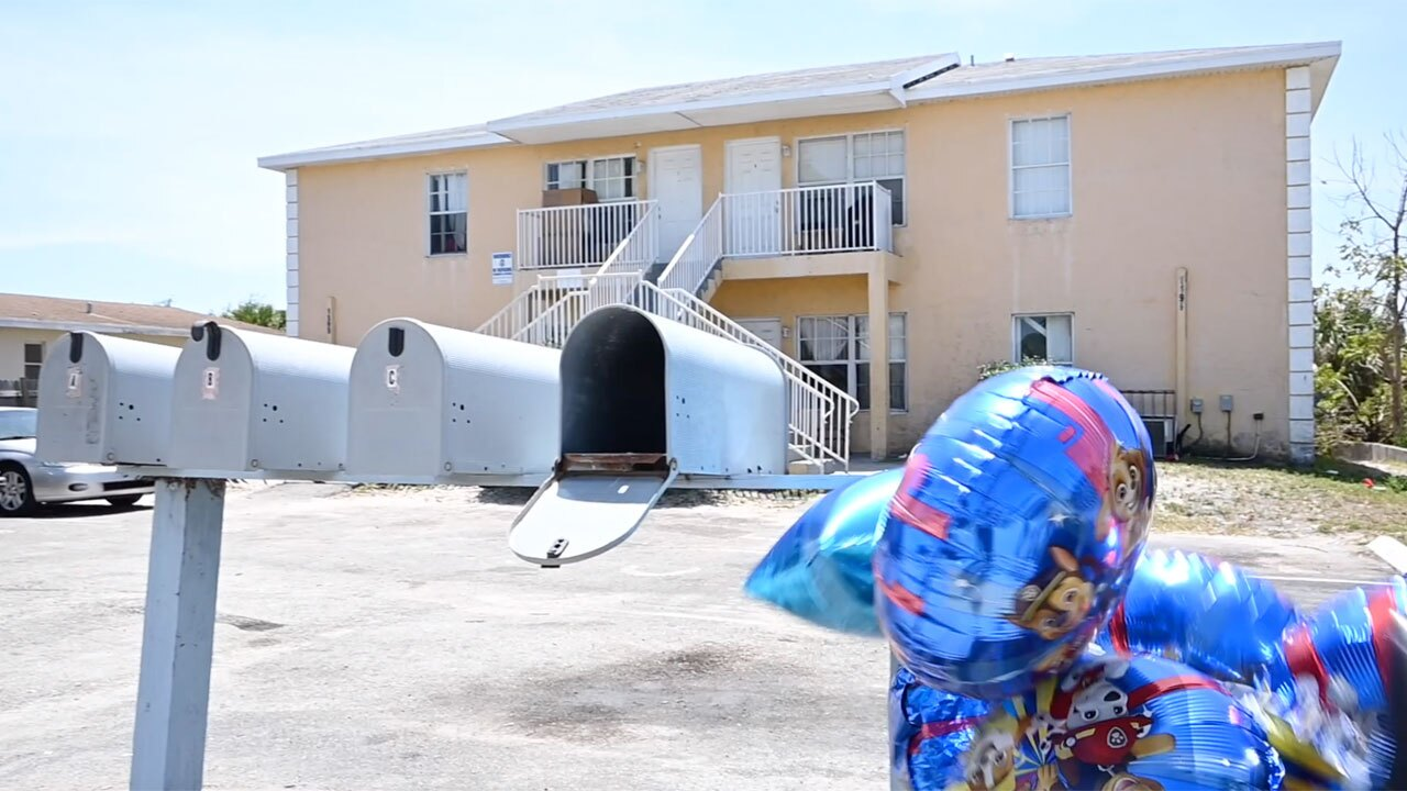 Balloons placed outside Riviera Beach family's home where child fatally shot on April 14, 2021