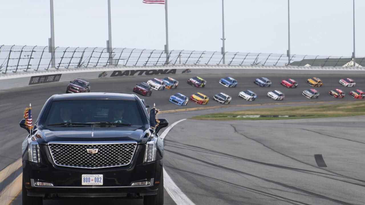 Trump NASCAR Daytona 500 Auto Racing