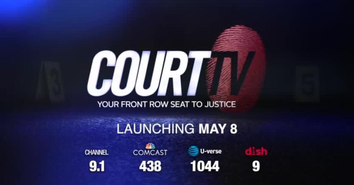 Court TV returns with live coverage of trials across the U S