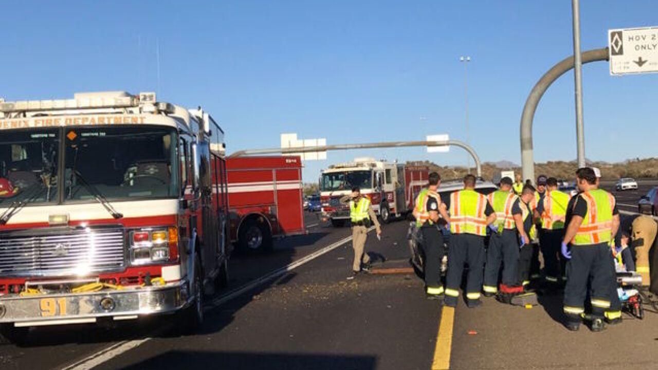 Phoenix FD: 4 children hospitalized in serious crash on SR-51