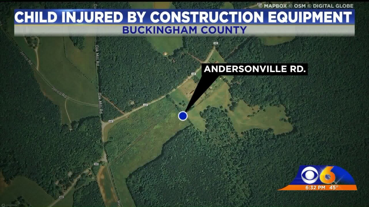7-year-old hurt by construction equipment in BuckinghamCounty