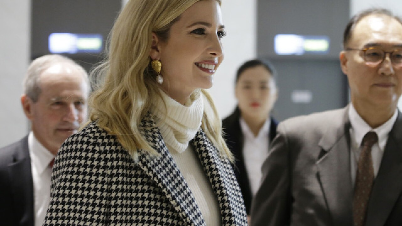 Ivanka Trump touches down in South Korea