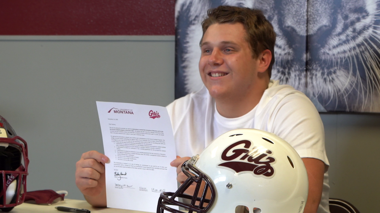 Zac Evans Montana Grizzlies football signing