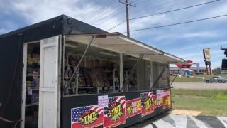 Fireworks Stand in Black Eagle