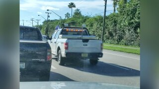 Trump flag flying outside Palm Beach County vehicle