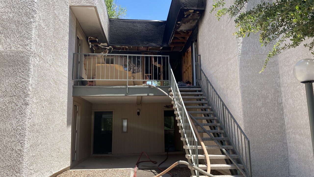 One person was injured and several people lost their homes in a Wednesday apartment fire.