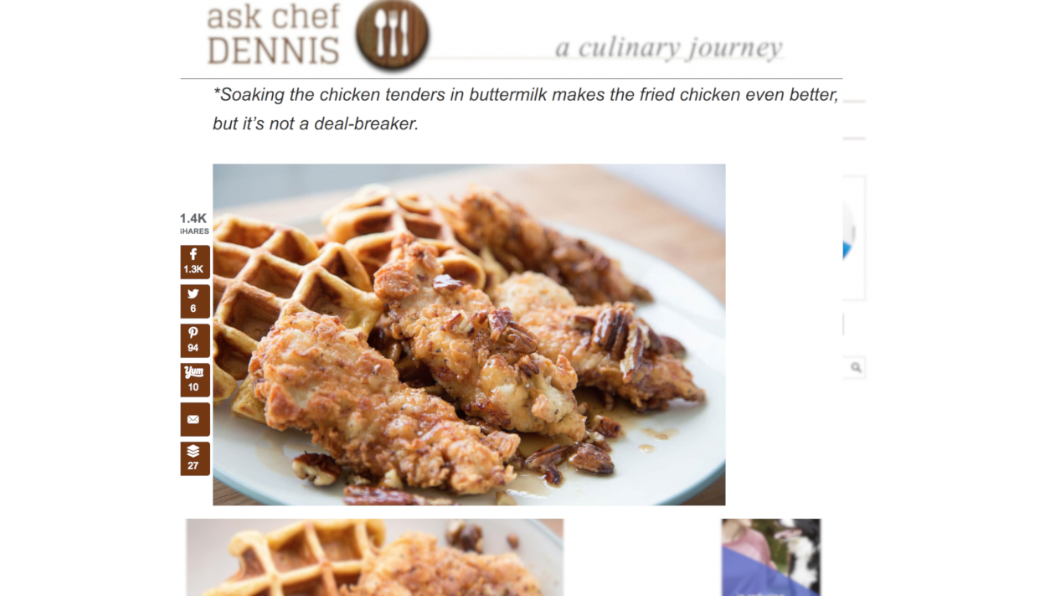 ask chef dennis chicken and waffles