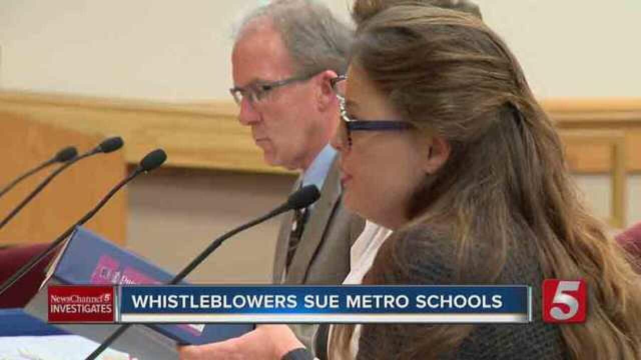 Whistleblowers Sue Metro Schools, Claim Retaliation