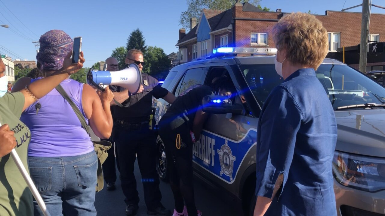 Protesters confront Lexington Police, including Chief Weathers