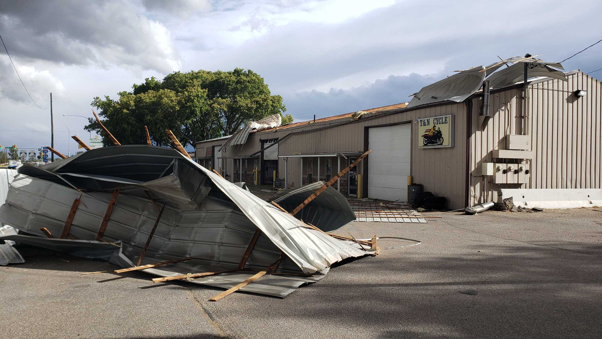 Roof ripped off T and N Cycle in Ogden1.jpg