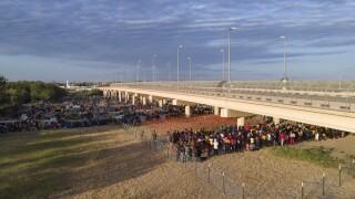 Migrant Camp US-Mexico border