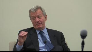 Max Baucus discusses trade war during Missoula visit
