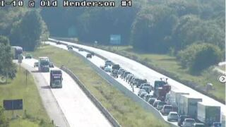 I-10 WB lanes open near Henderson following crash
