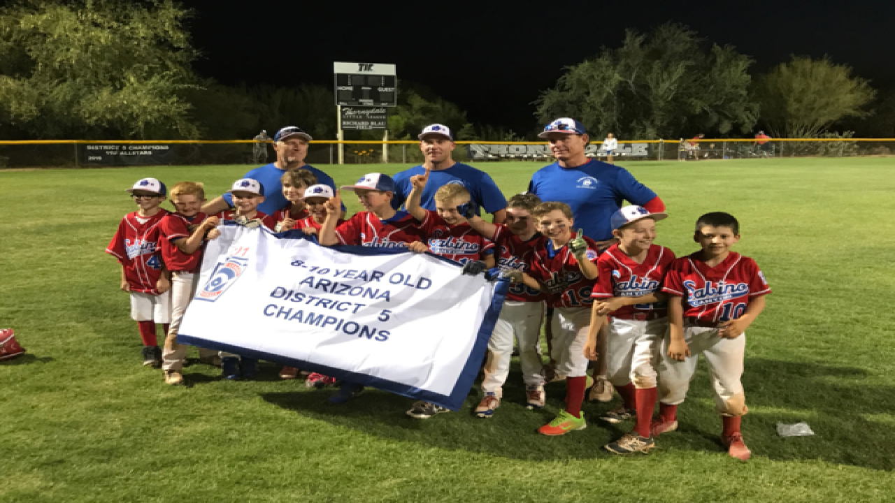 Sabino Canyon 8-10 year olds Little League win