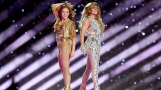 Rewatch Shakira and Jennifer Lopez in their glitzy Super Bowl halftime show