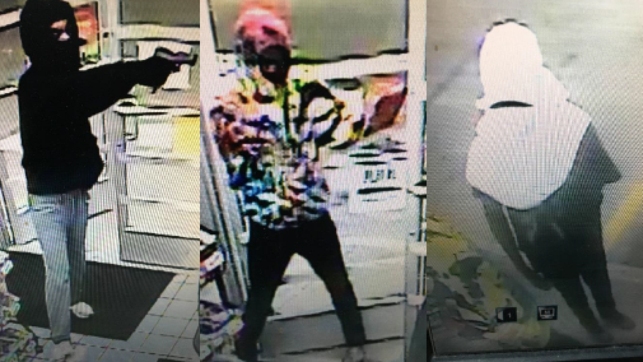 Police searching for men who robbed Virginia Beach gas station at gunpoint