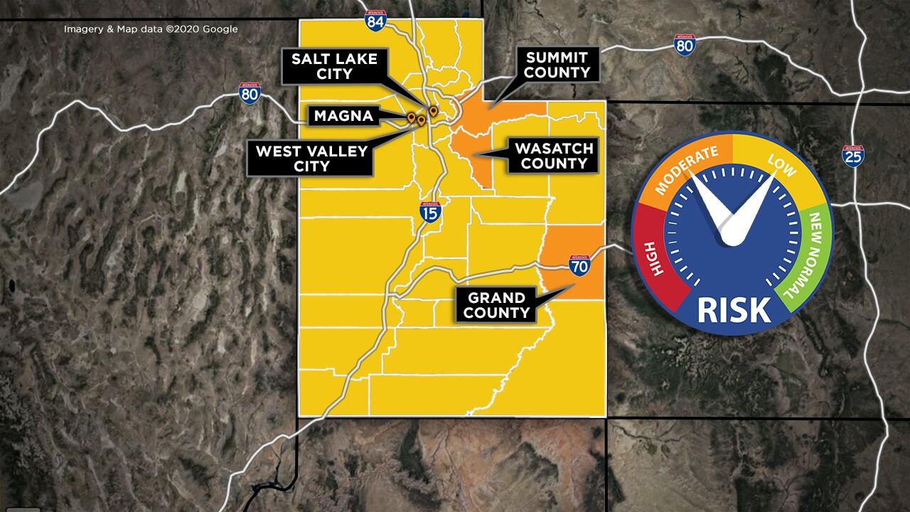 Utah yellow orange map