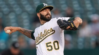 Mike_Fiers_Los Angeles Angels of Anaheim v Oakland Athletics