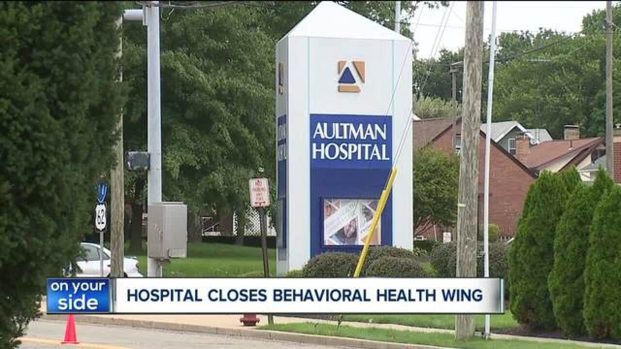 Aultman Hospital Closes Psychiatric Unit Community Concerned