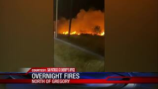 Overnight fire north of Gregory