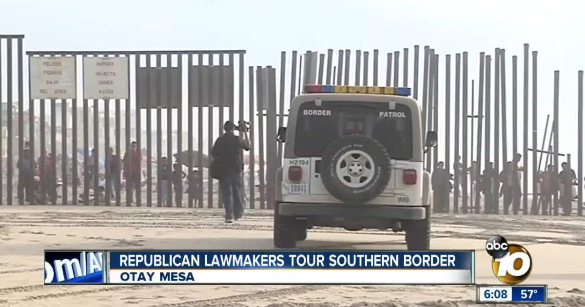 Republican lawmakers tour San Diego's border with Mexico