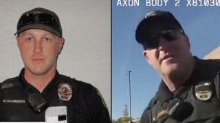 Officer Matthew Schneider and Sgt. Aaron Aldridge