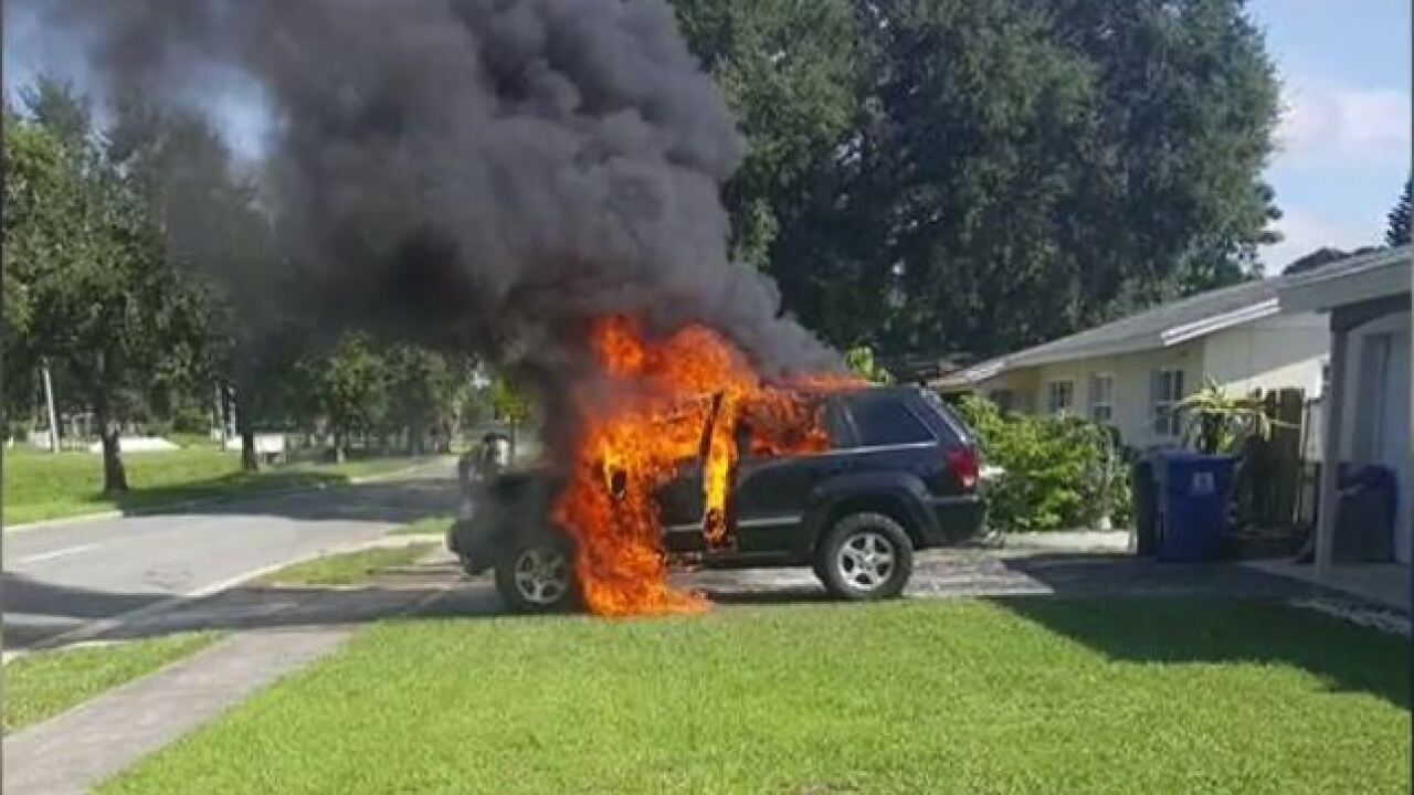 Florida family says exploding Samsung Note 7 totaled Jeep