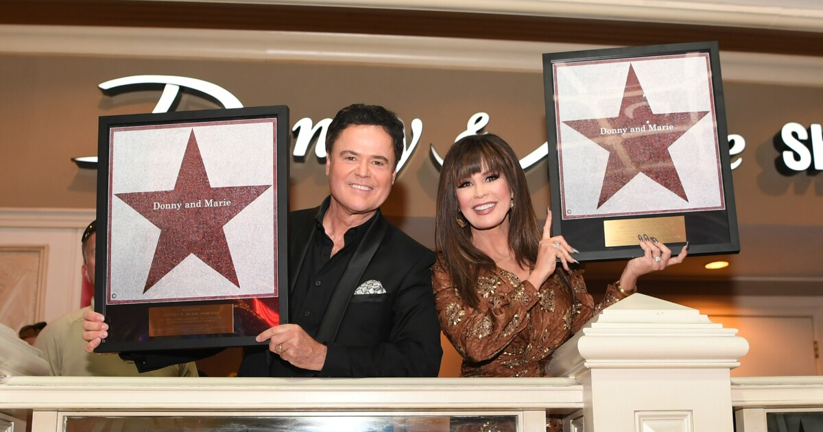 Donny & Marie Osmond honored with Las Vegas Star