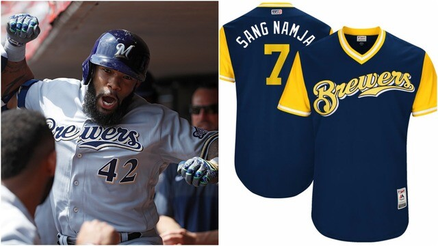 61e8a2e4f46 PHOTOS: See the nicknames Milwaukee Brewers chose for special Players  Weekend jerseys
