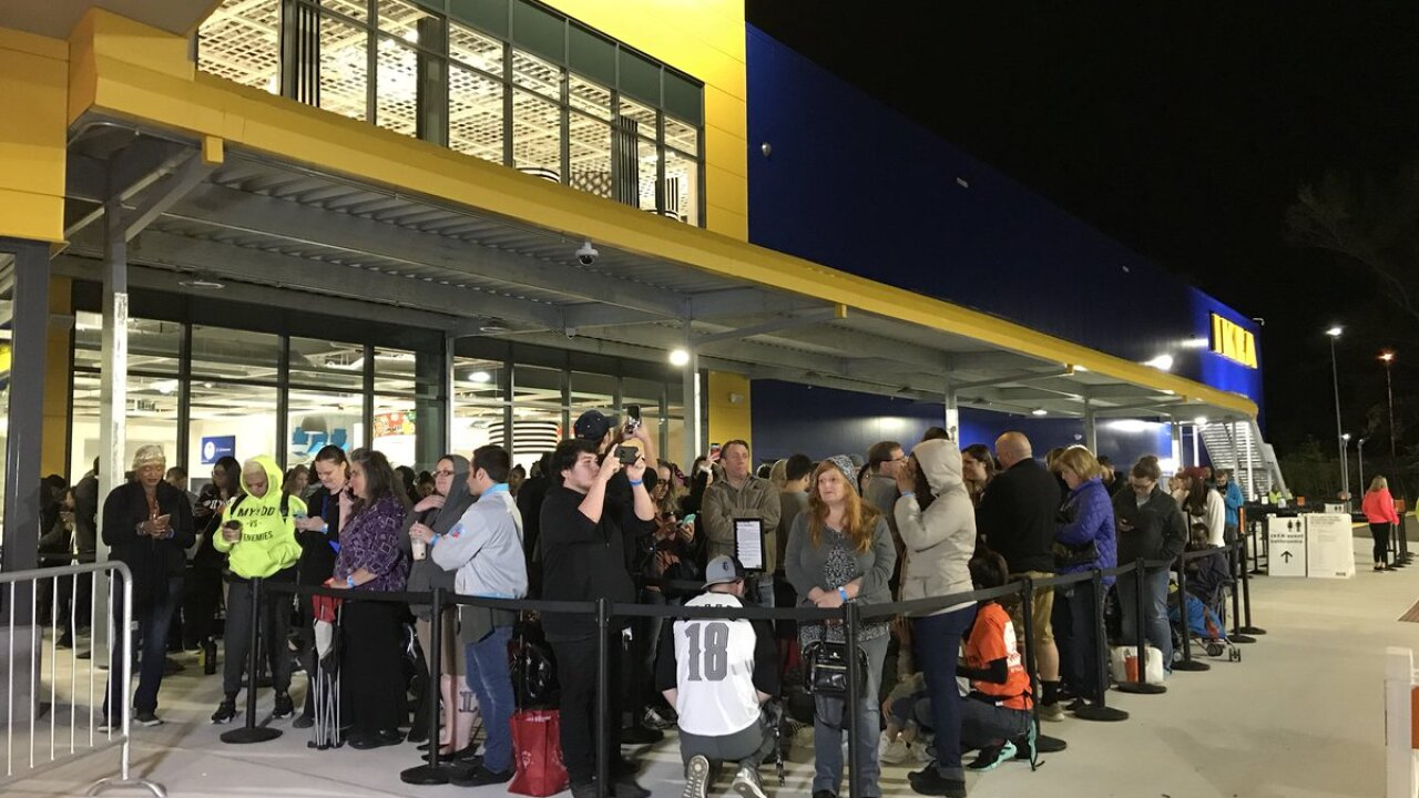 IKEA opens its doors in Norfolk