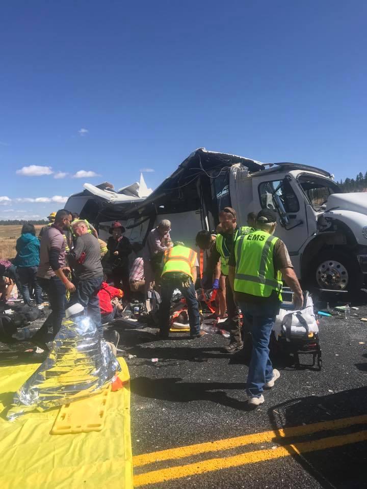 Photos: Four killed, dozens injured in tour bus crash near BryceCanyon