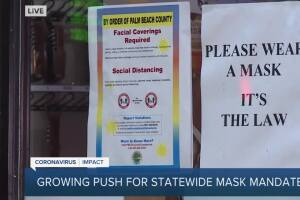 Group of Florida lawmakers want governor to issue mask mandate