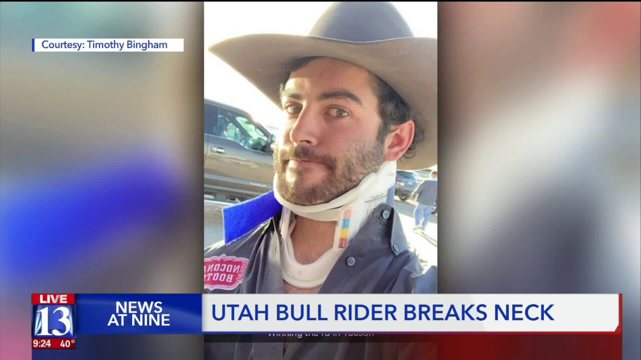 Bull rider from Utah breaks his neck during competition