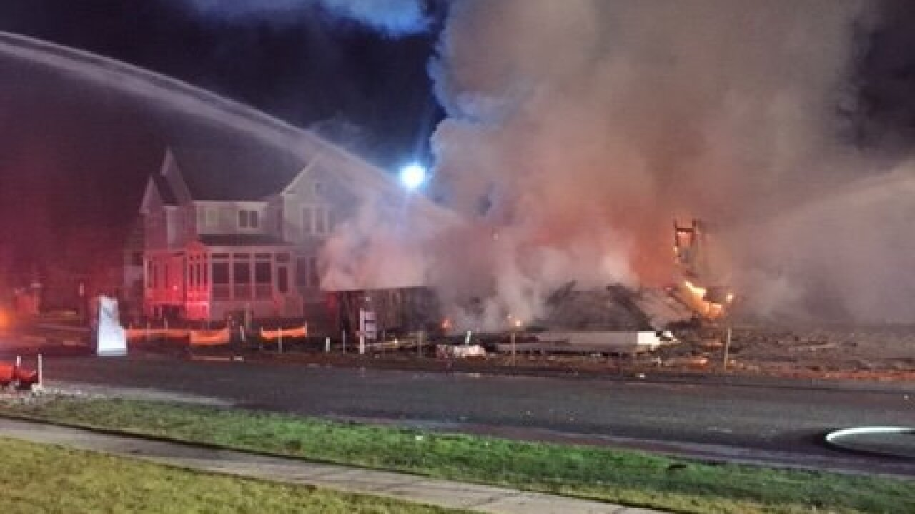 Chesapeake home under construction destroyed by fire