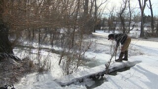 Ice jams causing flooding in Choteau