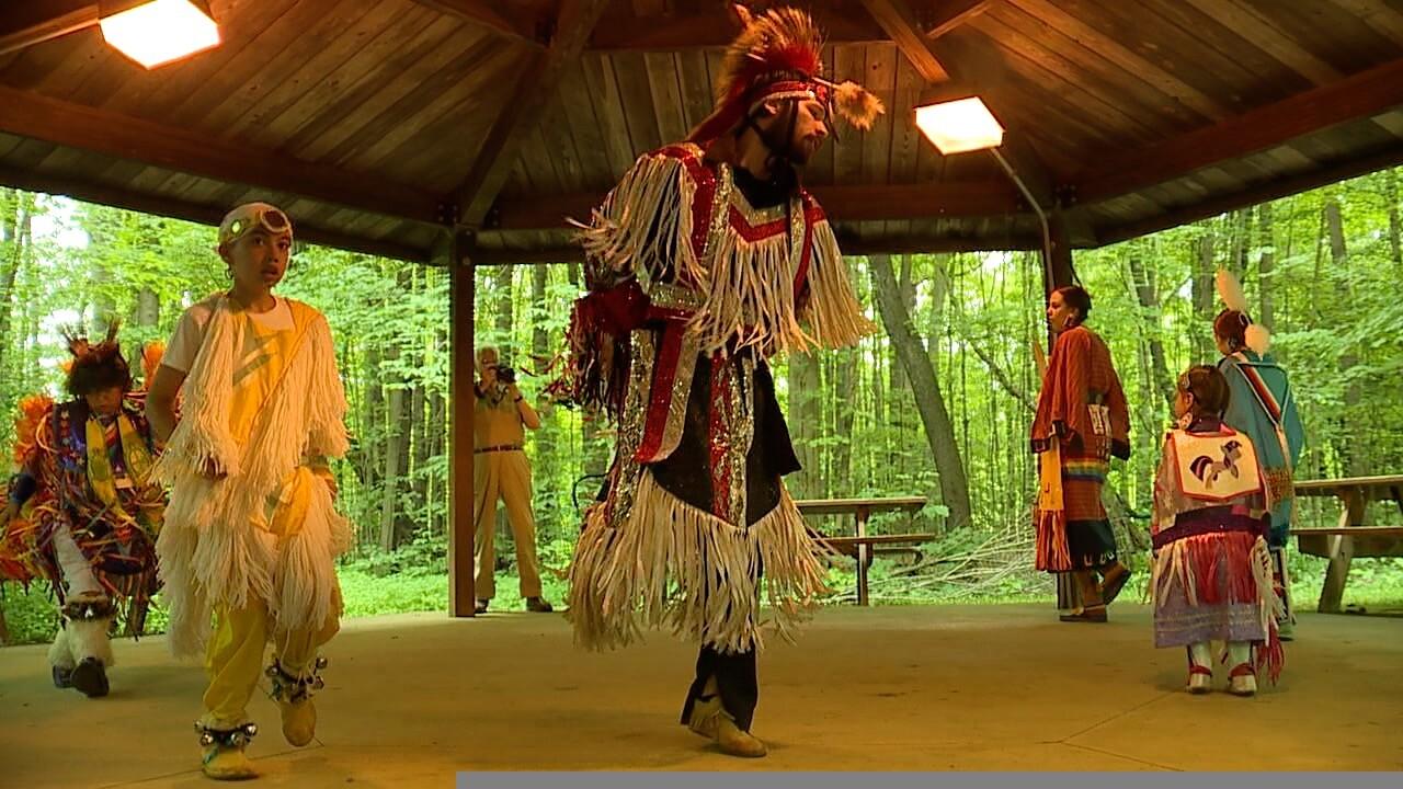 Native American dance troupe