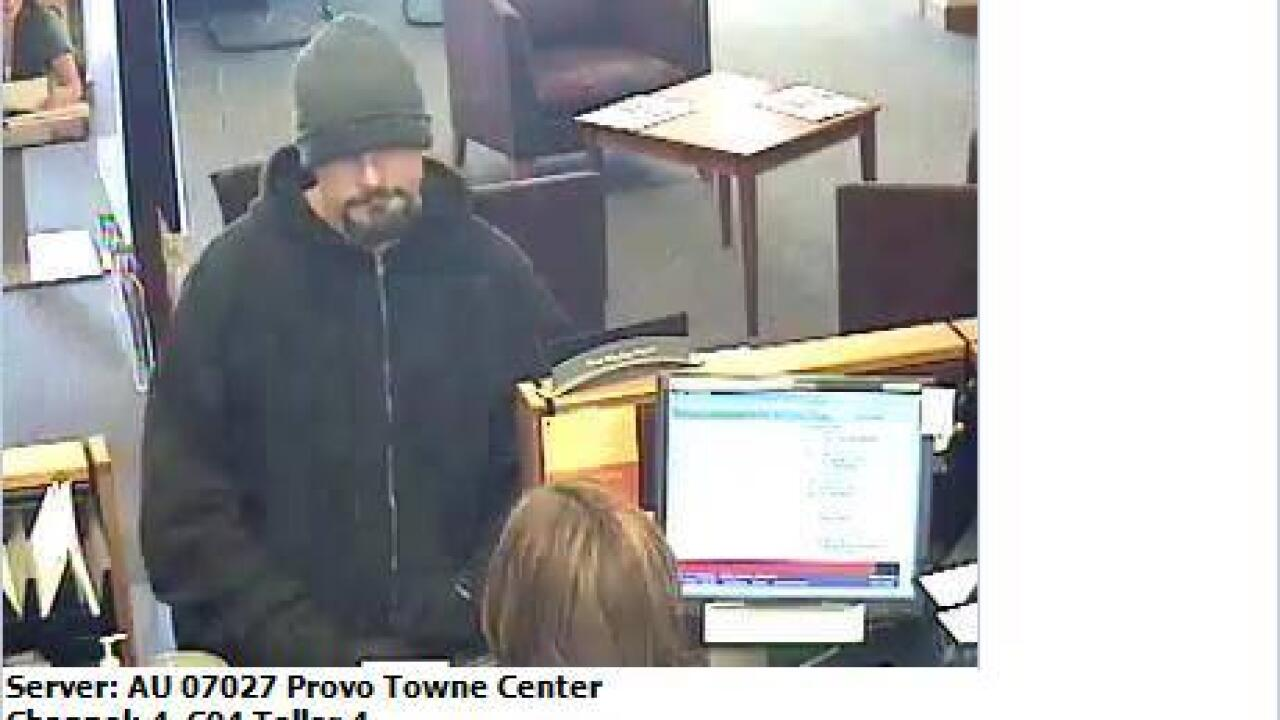 Police looking for suspect in Provo bank robbery