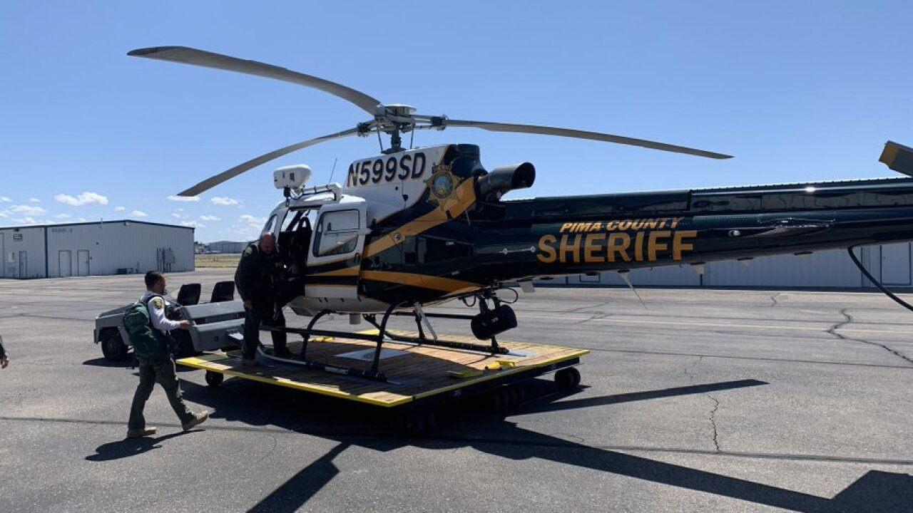 The Pima County Sheriff's Department responded to a rescue call for a 12-year-old boy stranded in Seven Falls in Sabino Canyon.